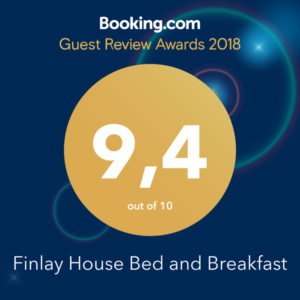 Finlay House Bed & Breakfast Booking Award Winner Best Bed & Breakfast 2018